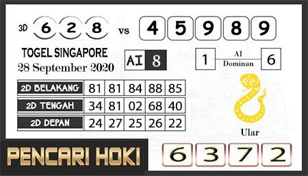 Prediksi Pencari Hoki SGP 45 Senin 28 September 2020