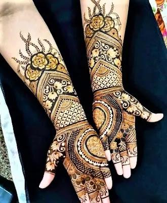 latest bridal mehndi design