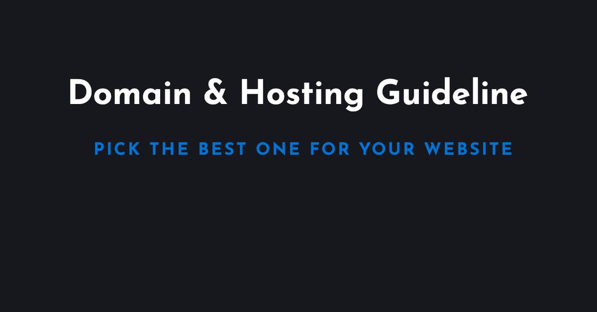 Domain & Hosting for WordPress