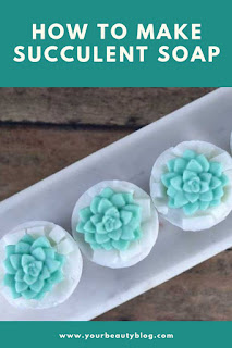 Need soap inspiration?  Make these adorable succulent soaps!  These make a cute soap gift or make them for yourself.  Soap making without lye.  How to make soap succulents.  Making soap recipes and creative ideas.  Diy soap making at home.  Soap making ideas with melt and pour soap.  #diy #soap #meltandpour #succulent