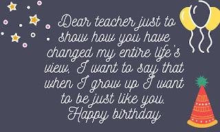 birthday wishes for teacher from student