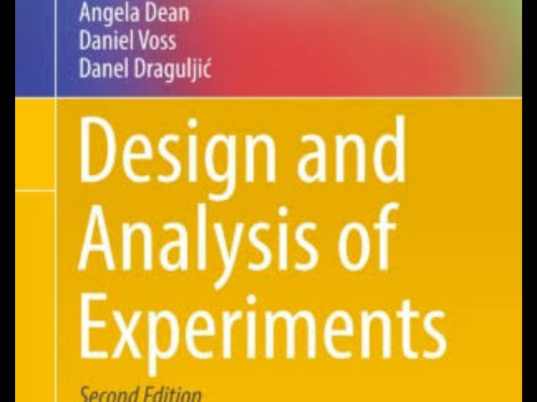 Free PDF: Download Best Reading Materials For Design and Analysis Of Experiments