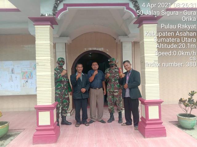 Personel Jajaran Kodim 0208/Asahan Laksanakan PAM di Beberapa Desa Dalam Menyambut Paskah