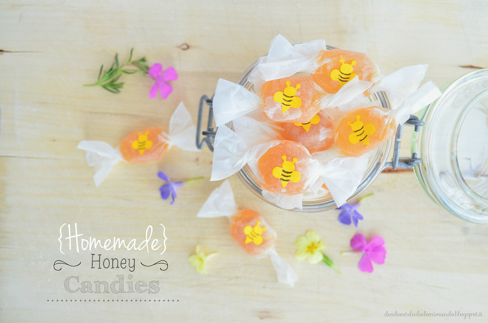 homemade honey candies desdeesteladodemimundo.blogspot.it