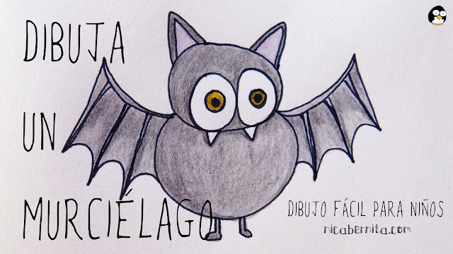 Cómo dibujar un murciélago. Dibujos de Halloween para copiar