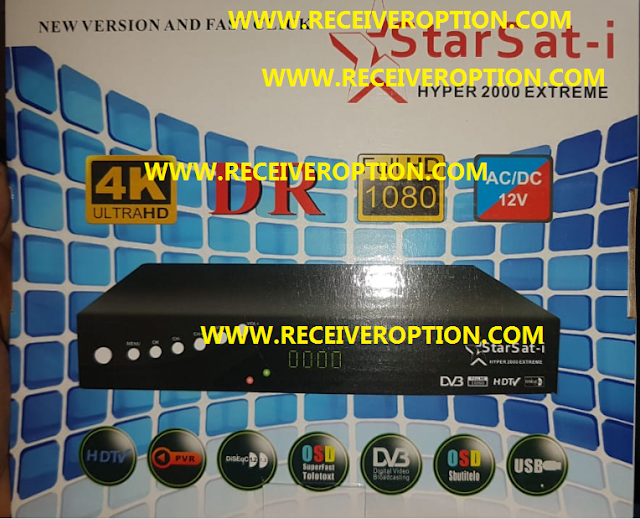 STARSAT-i HYPER 2000 EXTREME HD RECEIVER POWERVU KEY NEW SOFTWARE