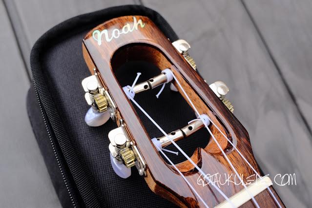 Noah Rosewood Spruce Concert Ukulele headstock