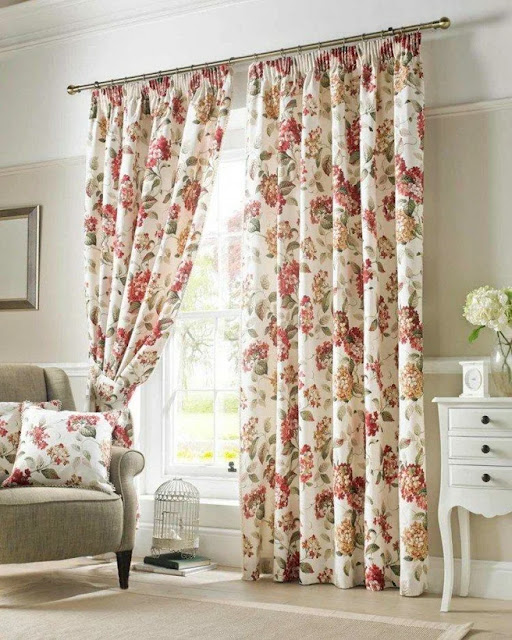 Provence style curtains