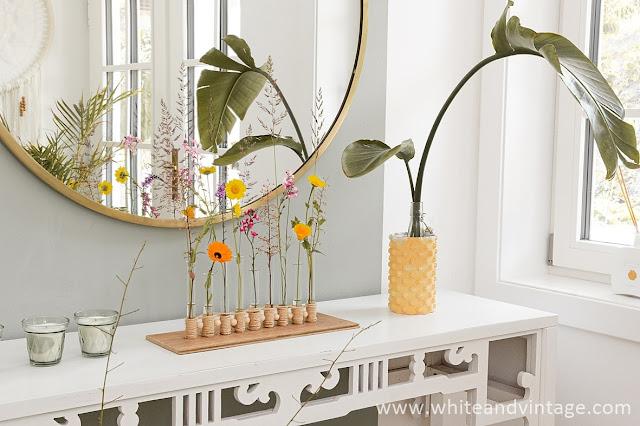 Vase aus Reagenzgläsern selbermachen