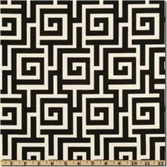 adding fabric to furniture, mode podge, geometric design, upholstery, fabric, greek key fabric