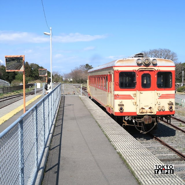 【阿字浦駅】常陸那珂海濱鐵道終點站 下車步行10分鐘就到沙灘