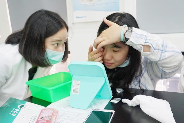大葉大學視光週衛教宣導 隱形眼鏡試戴體驗