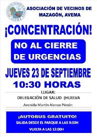 Concentración por el cierre del servicio de urgencias de Mazagón