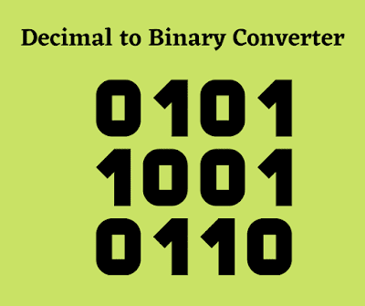 Decimal to Binary Code Converter