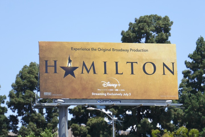 Hamilton Disney+ billboard