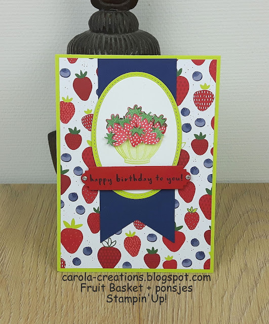 Stampin'Up! Fruit Basket
