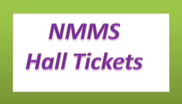 TS NMMS Hall Tickets Download - Exam on 6 Nov, 2016(www.naabadi.org)