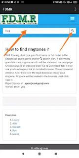 Search Ringtone