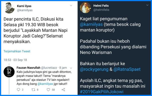 Tak Tayangkan Tema Persekusi, ILC @karniilyas Banjir Protes Netizen