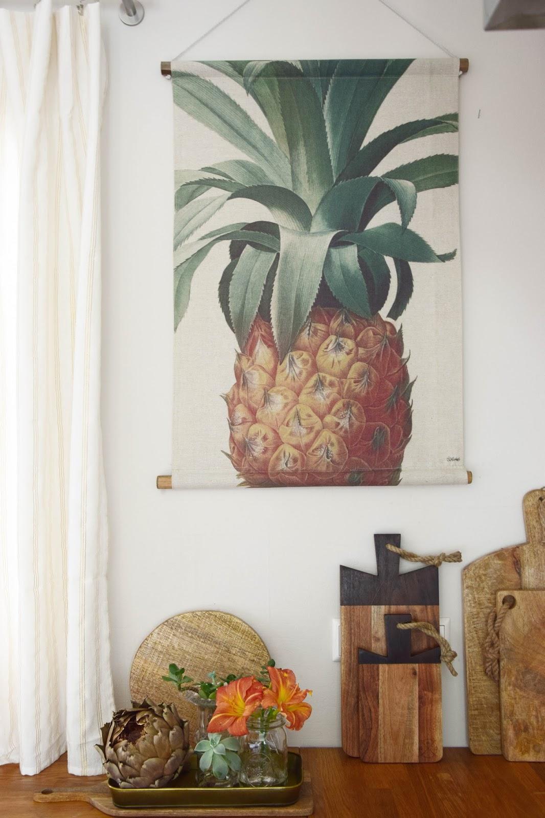 meine küche: ananas für die wand! | eclectic hamilton, Wohnzimmer dekoo