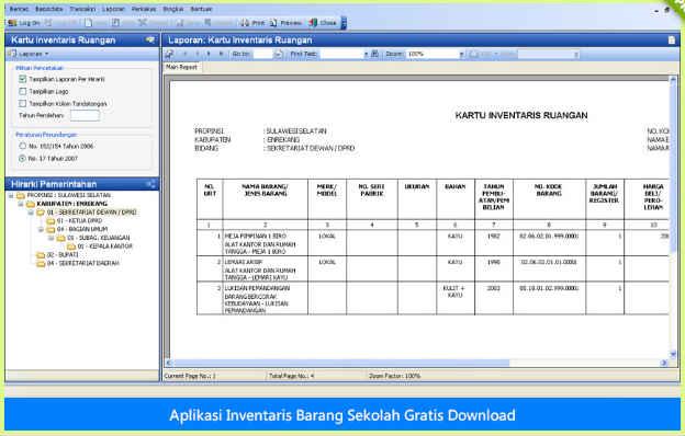 Aplikasi Inventaris Barang Sekolah Format Baru Gratis Download