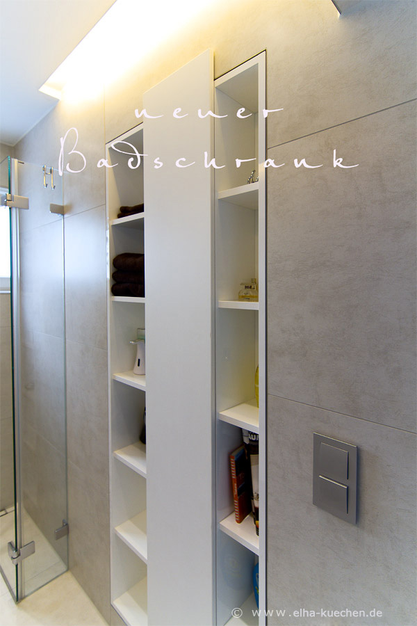 Wir renovieren Ihre Kche  Einbauschrank fuer unser kleines Bad