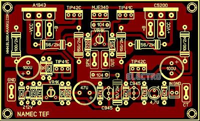 PCB Layout Power Amplifire NAMEC TEFF