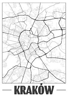 Plakat plan miasta Wałbrzych - miasto tajemnic