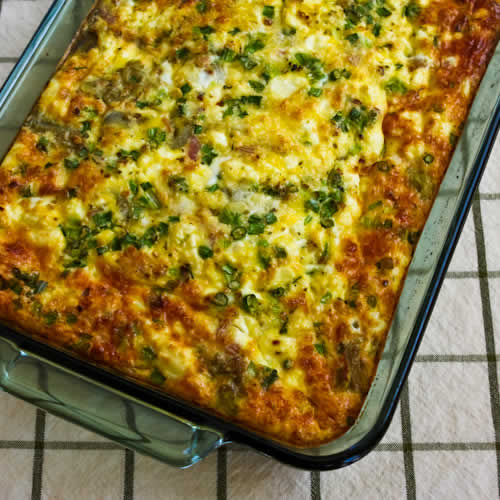 Breakfast Cassorle: Kalyn's Kitchen®: Karyn's Low-Carb Breakfast Casserole