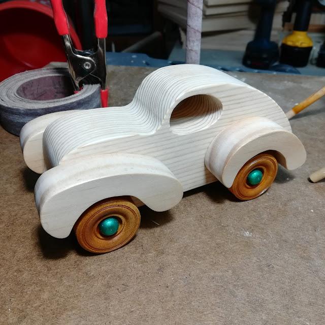 Handmade Wood Toy Car Torpedo Testing Wheel Fit
