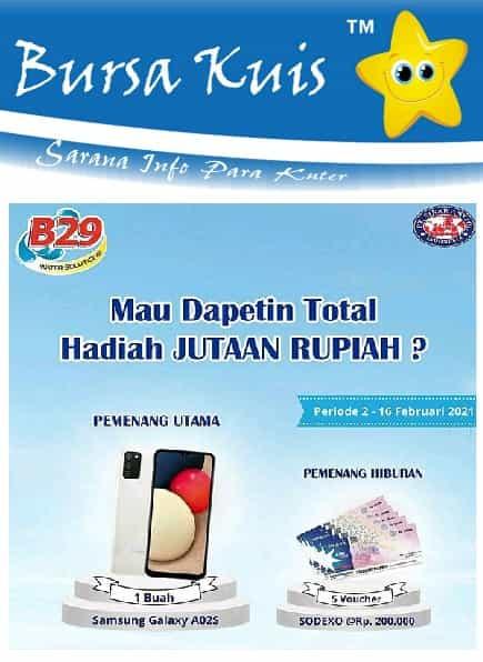 Kuis Promo Terbaru Deterjen B29 Berhadiah Smartphone dan Voucher Belanja