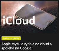 Apple zvyšuje výdaje na cloud a spoléhá na Google.