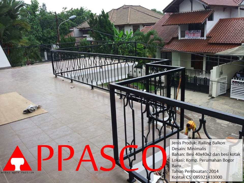 Railing Balkon Perumahan Bogor
