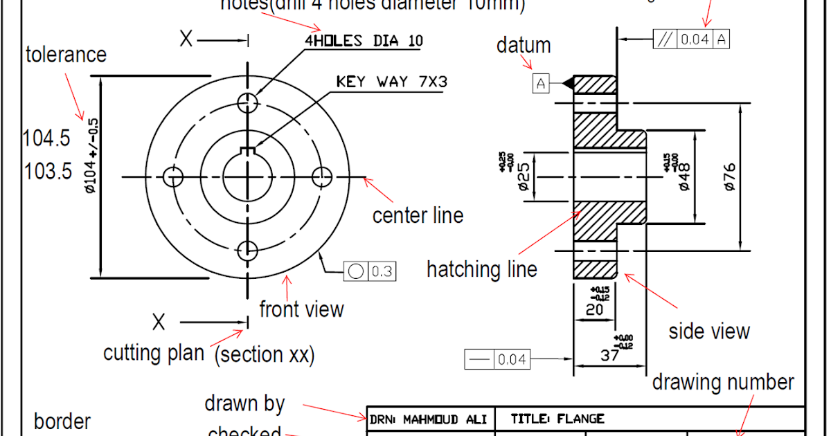 info Trade: Engineering Drawing Important Notes