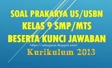 Download Soal US/USBN PRAKARYA Kelas 9 SMP/MTs K-13 Beserta Kunci Jawaban