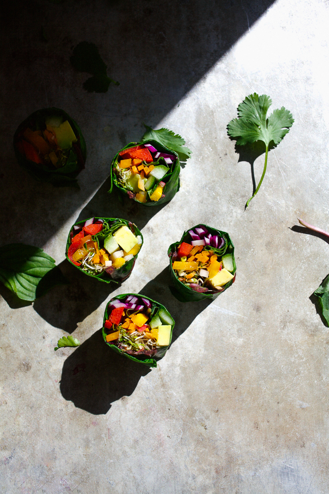 Rainbow Rolls with Creamy Miso