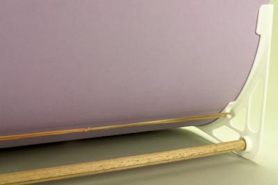 Hintergrund-Halter für Tabletop von hinten im Detail