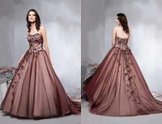 modelo de vestido marrom para noivas - dicas e fotos