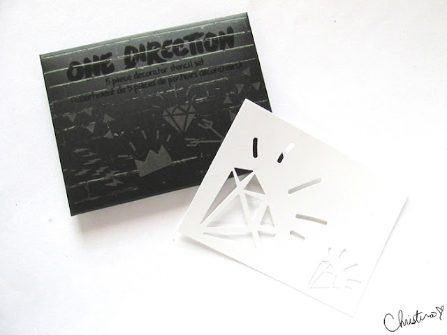 Makeup by One Direction Collection Review 5 Piece Decorator Stencil Set