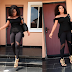 Rita Dominic stylish in all black ensemble...