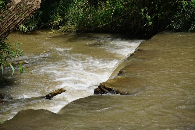 מפל מים בסכר כנף לבנה