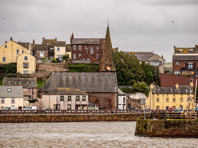 Photo of Christ Church at Maryport from across the basin