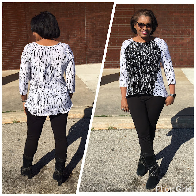 Sew-To-Fit self top color blocking and
