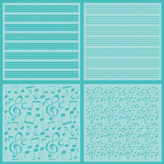 SHEET MUSIC | SET OF 4 STENCILS