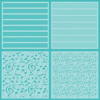 SHEET MUSIC | SET OF 4 STENCILS