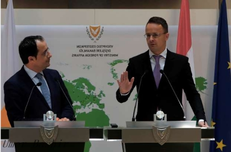 """Nicosia, Cyprus The Hungarian government is """"very concerned"""" that the coronavirus pandemic will trigger waves of migrants trying to reach poor countries from Europe, and that the disease will have a greater impact, the country's foreign minister said on Friday.    Hungarian Foreign Minister Peter Szilarto said EU leaders were responsible for helping citizens who lost their jobs due to the epidemic through """"labor-based migration"""", which was certainly """"contrary to the interests of Europe""""."""