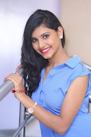 Telugu Actress Mounika UHD Stills in Blue Short Dress at Tik Tak Telugu Movie Audio Launch .COM 0260.JPG