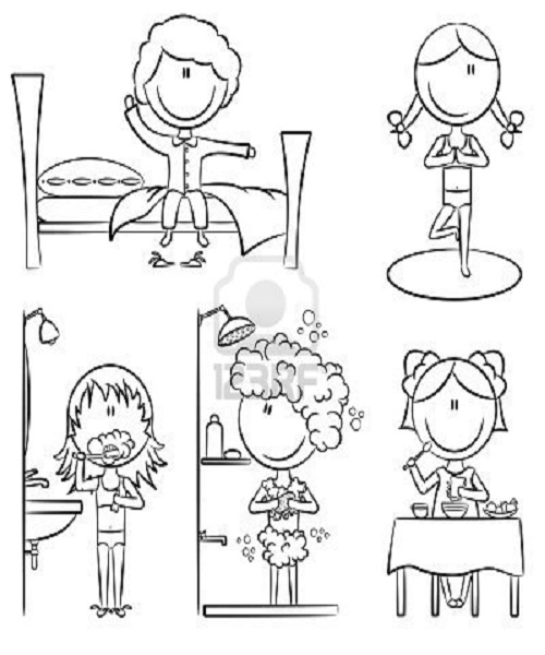 coloring pages daily activities conversation - photo#10