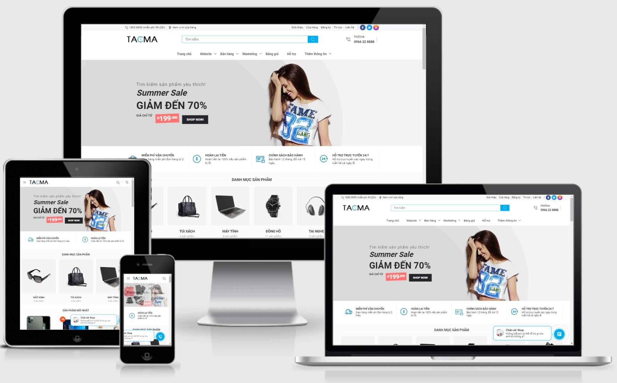 Template blogspot bán hàng chuẩn SEO TACMA