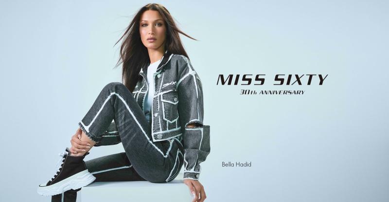 Bella Hadid stars in Miss Sixty fall-winter 2021 campaign.